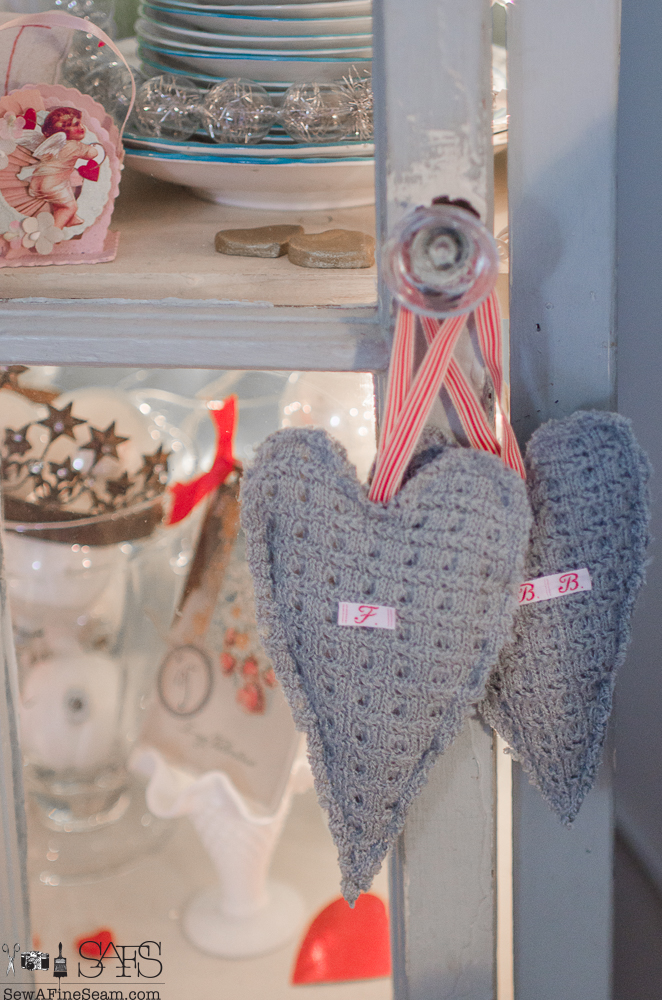Heart Shaped Sachet Made from a Sweater