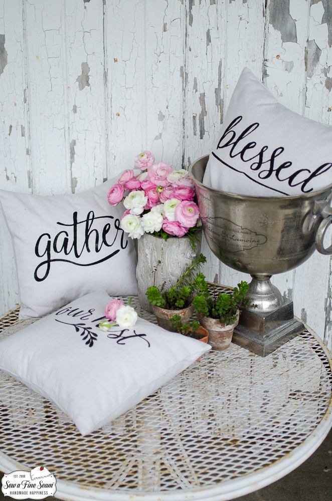 Word Art Pillows – Small Size with Down Alternative Insert