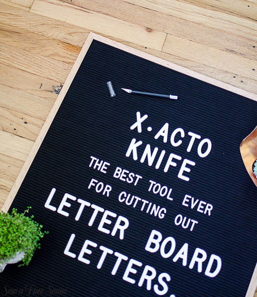 LetterFolk letterboards and X-acto Knives