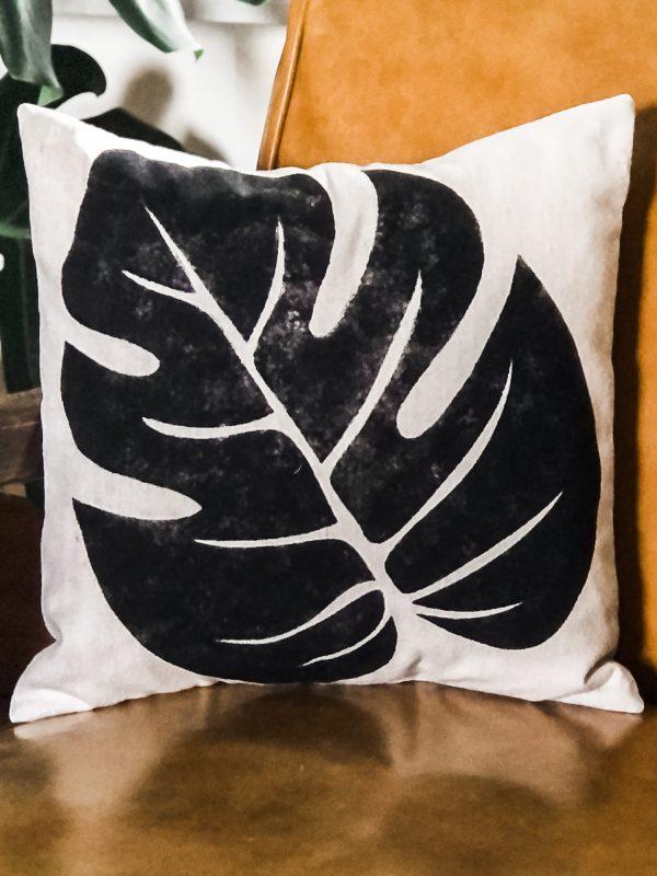 monstera-leaf-pillow