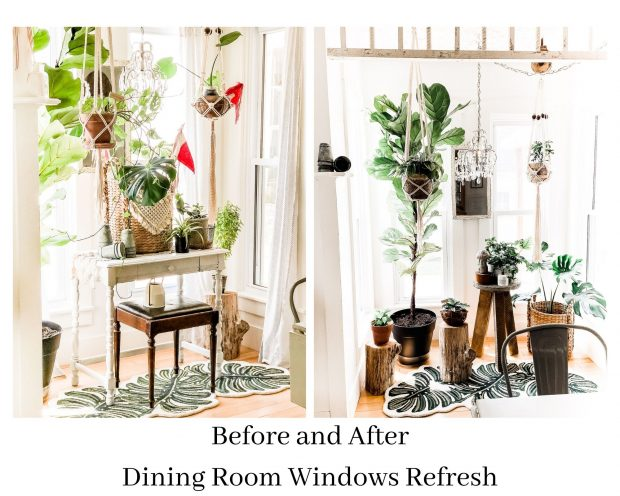 dining windows before and after